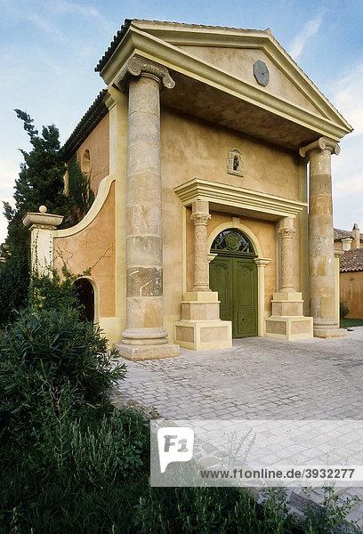 Ch'teau Minuty  Familienkapelle  provenzalisches Weingut  Gassin  Provence-Alpes-CÙte d'Azur  Var  Süfrankreich  Frankreich  Europa