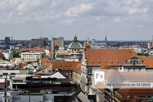 View of Munich from the Alter Peter church  Munich  Bavaria  Germany  Europe