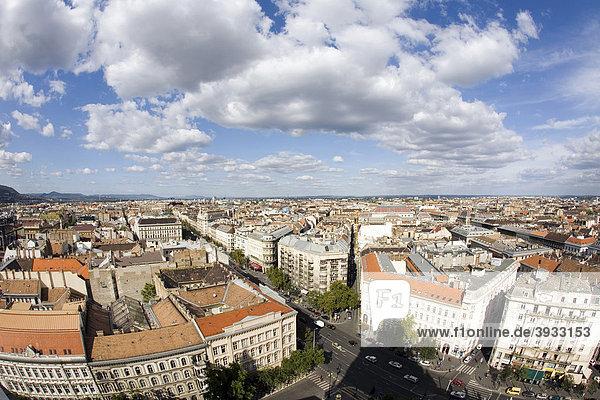 Aussicht von der St. Stephans Basilika  Budapest  Ungarn  Osteuropa