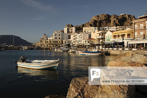 Port of Pigadia  island of Karpathos  Aegean Islands  Dodecanese  Aegean Sea  Greece  Europe