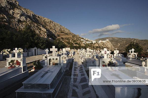 Friedhof von Menetes  Insel Karpathos  Ägäische Inseln  Ägäis  Dodekanes  Griechenland  Europa