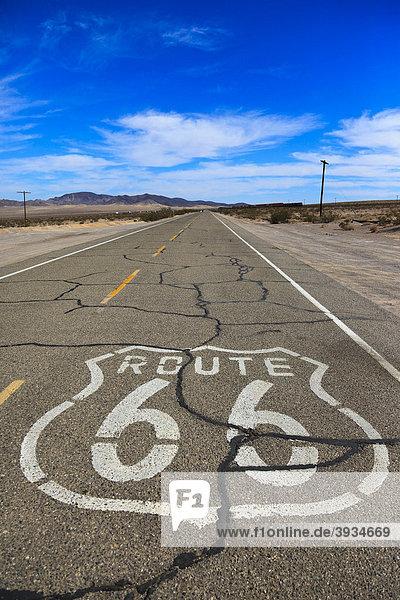 Die historische Route 66  Ludlow  California  USA  Nordamerika