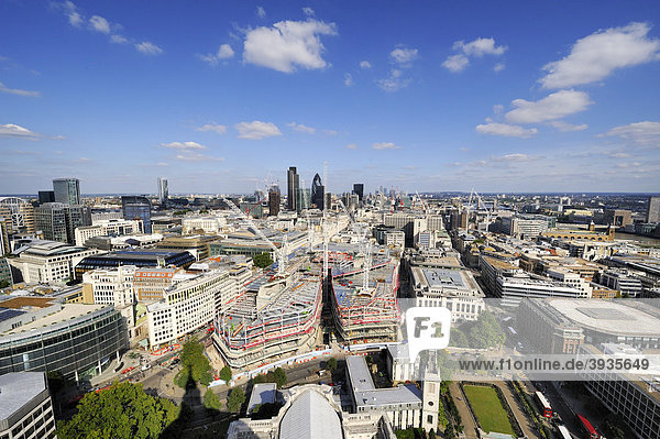 View over the city of London  England  United Kingdom  Europe