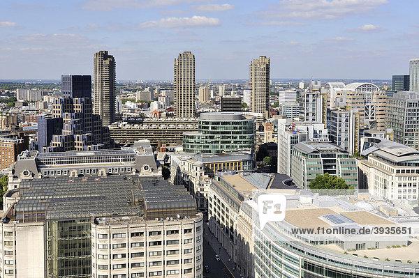 Blick über die Stadt London  England  Großbritannien  Europa