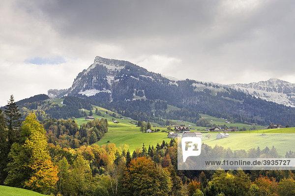 Der 1781m ü.M. hohe Stockberg ist der Hausberg von Ennetbühl in der Region Toggenburg  Kanton St. Gallen  Schweiz  Europa