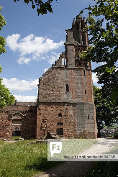 Das Kloster Limburg  vormals Abtei Zum heilgen Kreuz oder Kloster Limburg an der Haardt  Bad Dürkheim  Rheinland-Pfalz  Deutschland  Europa