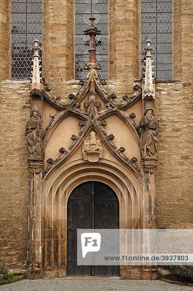 Haupteingang des Merseburger Doms  Domplatz 7  Merseburg  Sachsen-Anhalt  Deutschland  Europa