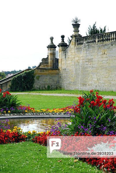 Garten hinter dem Kloster St. Michael auf dem Michaelsberg  UNESCO-Welterbe Bamberg  Oberfranken  Bayern  Deutschland  Europa