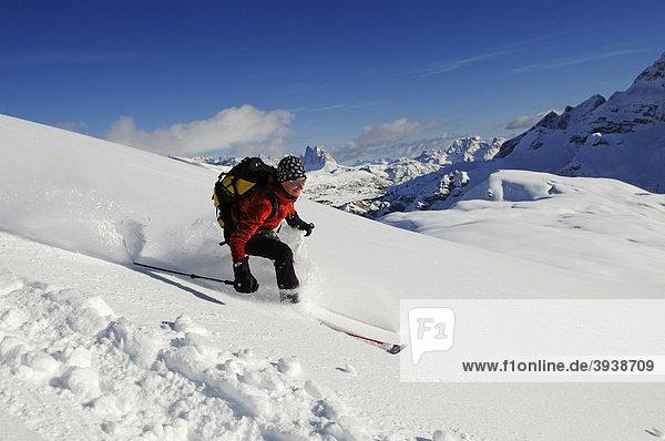 Skitour  Großer Jaufen  Pragser Tal  Drei Zinnen  Hochpustertal  Südtirol  Italien  Europa