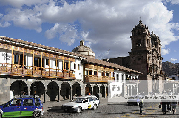 La Compania de Jesus  Jesuitenkirche  Plaza de Armas Cusco  Cusco  Inkasiedlung  Quechuasiedlung  Peru  Südamerika  Lateinamerika