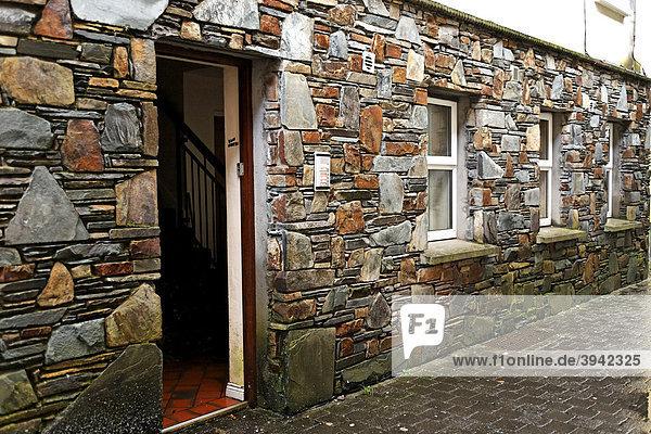 Steinmauer eines Gebäudes  Killarney  Irland  Europa