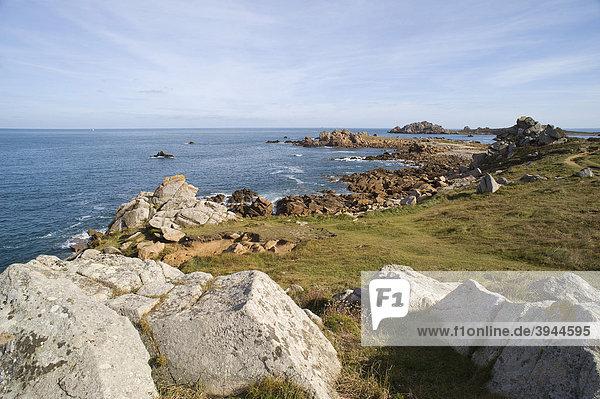 Küste bei Le Diben  Finistere  Bretagne  Frankreich  Europa