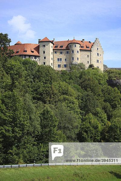 Burg Rabenstein bei Ahorntal in der Fränkischen Schweiz,  Landkreis Bayreuth,  Oberfranken,  Deutschland,  Europa