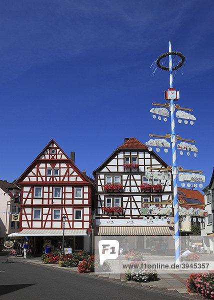 Am Marktplatz von Bad Orb  Main-Kinzig-Kreis  Hessen  Deutschland  Europa