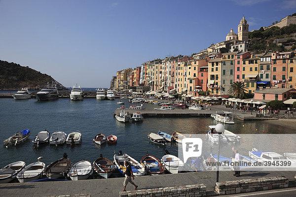 Portovenere in the Cinque Terre region  Liguria  Italy  Europe