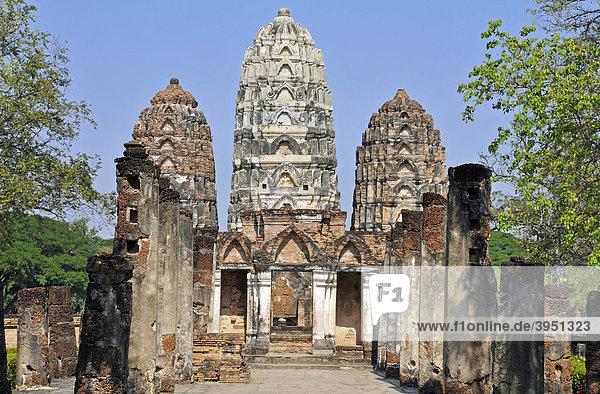 Wat Si Sawai  Sukhothai Historical Park  Sukhothai  Thailand  Asia