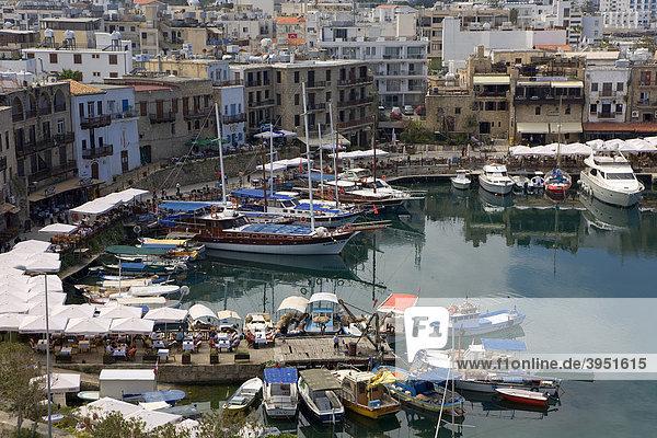 Fishing village  port  Girne  Keryneia  Cyprus  Greece  Europe