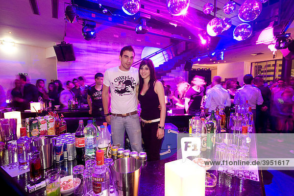 Trendy disco Zoo  bartender  Nicosia  Cyprus  Greece  Europe