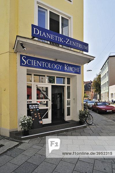 Fendstraße  Eingang zum Dianetik-Zentrum der Scientology Kirche  München  Bayern  Deutschland  Europa