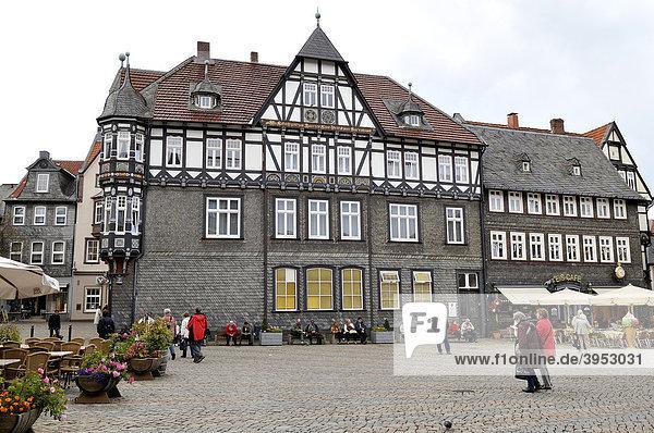 Historisches Gebäude  Altstadt Goslar  Weltkulturerbe UNESCO  Ostfalen  Deutschland
