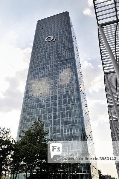 Hochhaus Uptown Munich  zweithöchstes Gebäude in München  Georg-Brauchle-Ring  München  Bayern  Deutschland  Europa