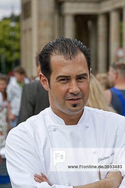 Küchendirektor Christian Müller vom Hotel Adlon  Berlin  Deutschland  Europa