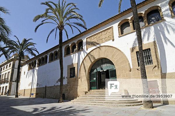 Markthalle  Markt  Palmen  Altstadt  Javea  Costa Blanca  Alicante  Spanien  Europa