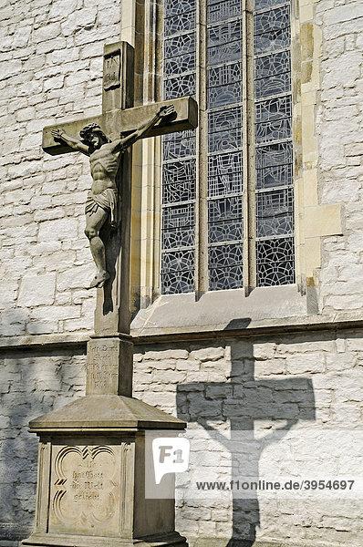 Crucifix  St Christophorus  church  Werne  Kreis Unna district  North Rhine-Westphalia  Germany  Europe