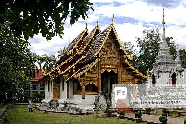 Phrasings Voramahavihara Tempel  Tempelanlage Wat Phra Sing  Chiang Mai  Thailand  Asien