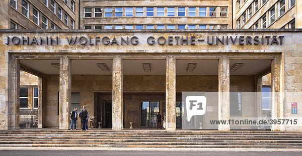 Eingang der Goethe-Universität Frankfurt am Main  Deutschland
