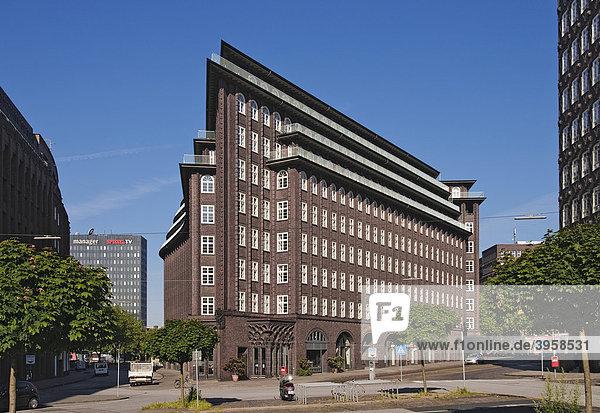 Chilehaus  Kontorhausviertel  Hamburg  Deutschland  Europa