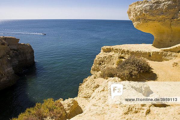 Küste der Algarve  Portugal  Europa