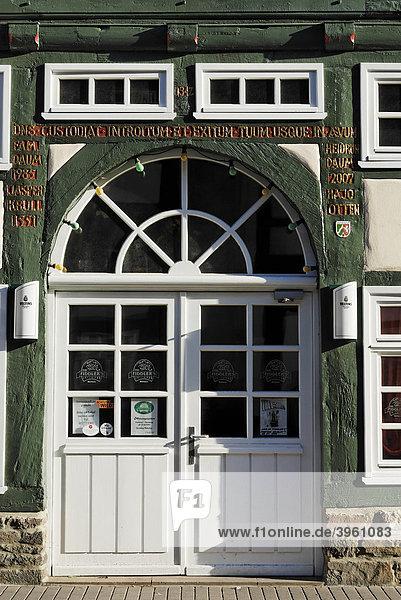 Fachwerkhaus  Weserrenaissance  Altstadt  Höxter  Nordrhein-Westfalen  Deutschland  Europe