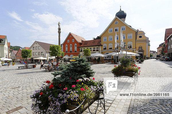 Marienplatz  Immenstadt im Allgäu  Oberallgäu  Schwaben  Bayern  Deutschland  Europa