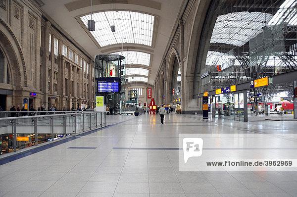 Hauptbahnhof  Innenansicht  Leipzig  Sachsen  Deutschland  Europa