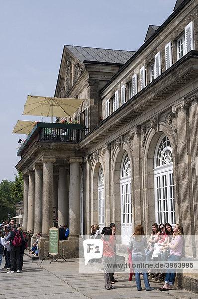 Theaterplatz  Italienisches Dörfchen  Dresden  Sachsen  Deutschland