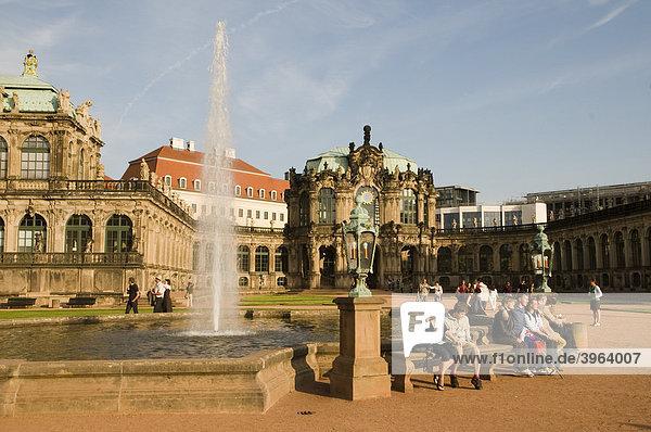 Zwinger  Dresden  Sachsen  Deutschland