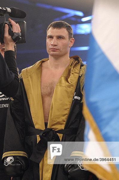 WBC Heavyweight championship boxing match  Vitali Klitschko vs. Juan Carlo Gomez  Hanns-Martin-Schleyer Hall  Stuttgart  Baden-Wuerttemberg  Germany  Europe