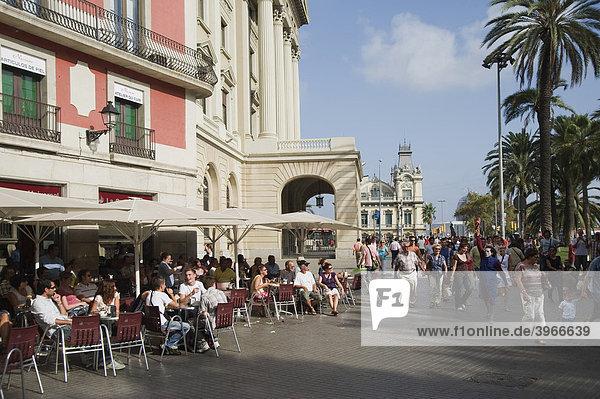 Platz Portal de la Pau  Barcelona  Katalonien  Spanien