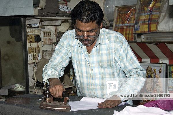 Tailor  Chandni Chowk Bazar  Old Delhi  India
