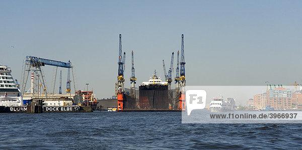 Schwimmendes Dock  Hamburg  Deutschland  Europa
