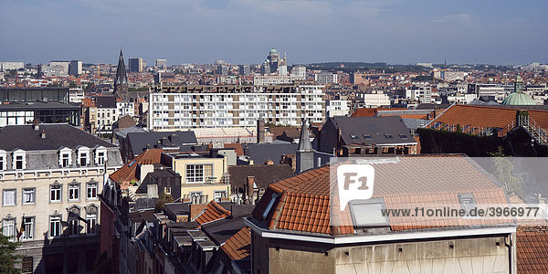 View over Brussels  Brabant  Belgium  Europe