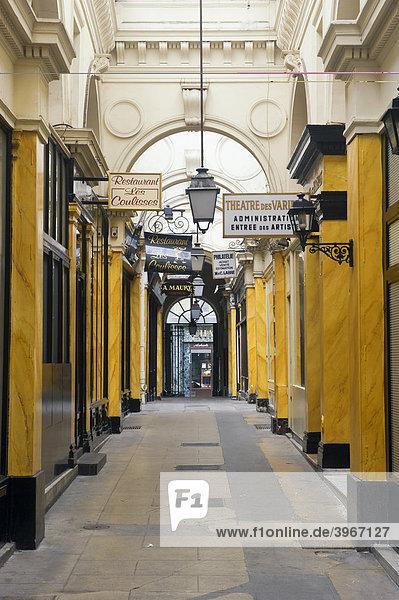 Passage des Panoramas  Paris  Frankreich  Europa