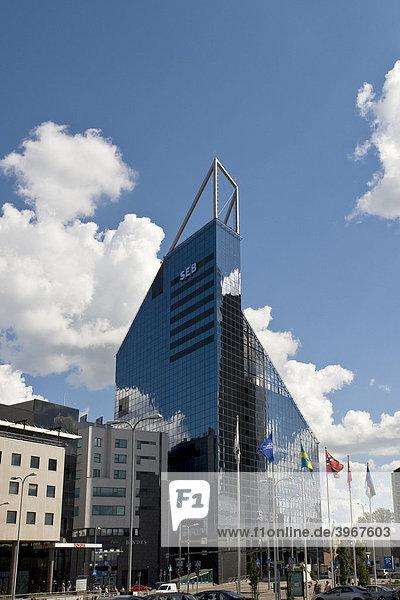 Glaspalast  SEB-Bank  Tallinn  Estland  Baltikum