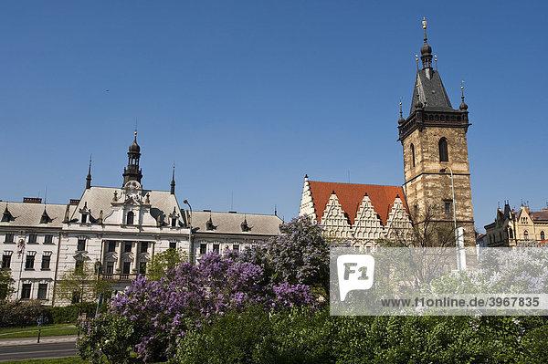 New Town Hall in New Town Quarter  Prague  Czech Republic  Europe