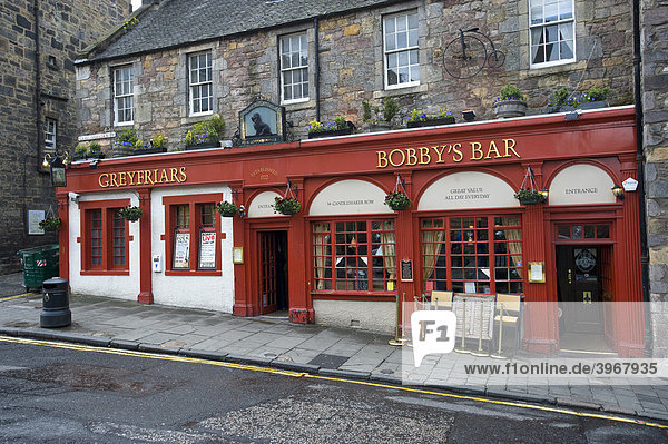 Greyfriars Bobby's Bar  Edinburgh  Schottland  Vereinigtes Königreich  Europa