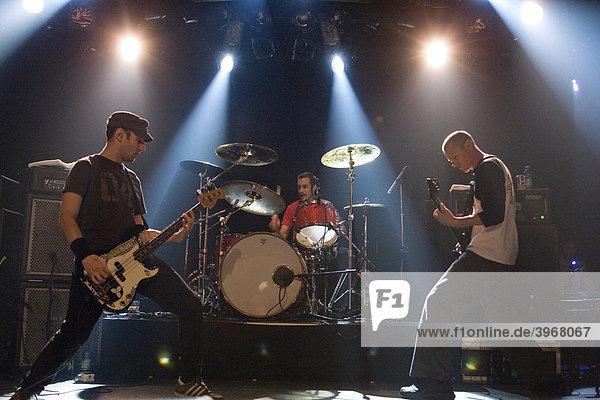 US rock metal band Helmet  Page Hamilton: vocals and guitar  Dan Beeman: guitar  Jon Fuller: bass  Kyle Stevenson: drums  live in Schueuer Luzern  Switzerland