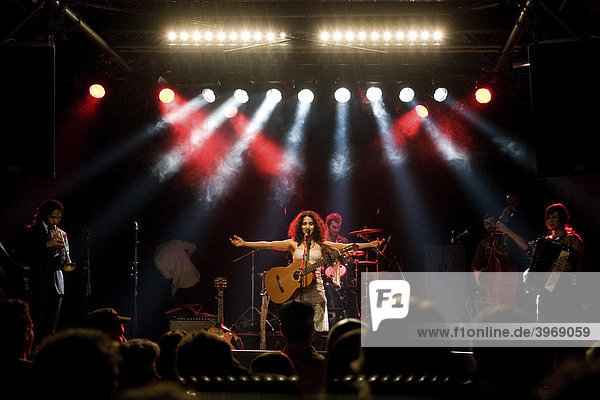 US band Rupa & The April Fishes  performing live at Schueuer concert hall  Lucerne  Switzerland  Europe