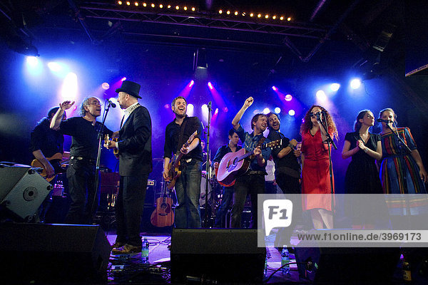 The music project Song Circus hosted by Coal & Band live in the concert hall Schueuer  Lucerne  Switzerland