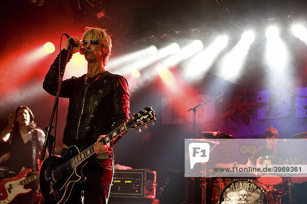 US musician Duff McKagan  former guitarist of Guns N 'Roses  live with his band Loaded in the Schueuer in Lucerne  Switzerland